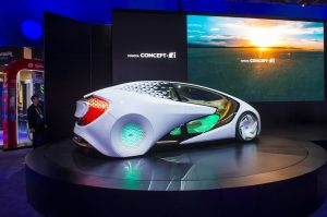 2016 年 1 月 8 日にラスベガス、ナバダでの CES ショーでトヨタコンセプ トカー。(CES:世界有数の家電ショー)