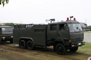 大宮駐屯地の中央特殊武器防護隊にのみ配備される粉末散布車(Wikipediaより)