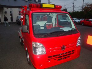 小型車のひとつ、散光式軽消防車(トノックス工場にて)